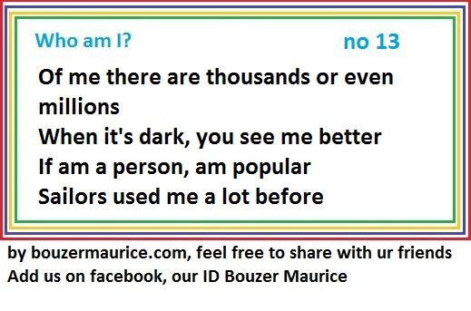 Riddles et Enigmes by bouzermaurice - How smart are you ...